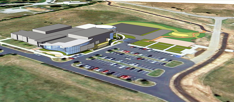 A birdseye view of the North Lexington YMCA campus planned expansion.