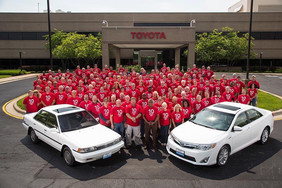 Toyota Celebrates 10 Millionth Vehicle Made In Kentucky