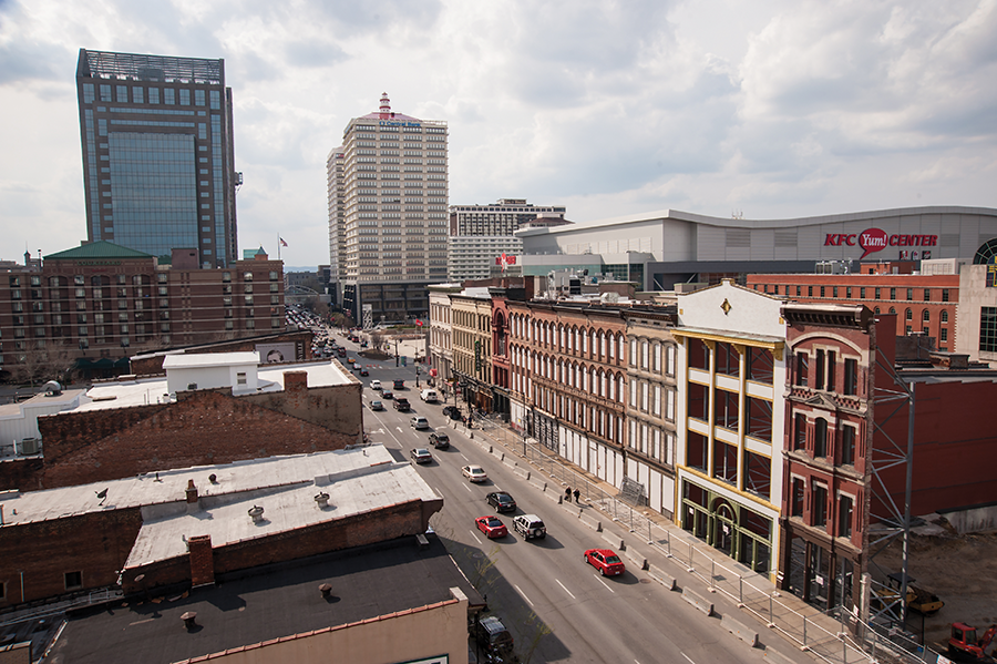 Whiskey Row is situated in the heart of downtown Louisville.