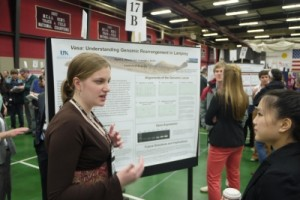 UK biology major Sarah Whelan presented undergraduate research at the 2013 National Conference on Undergraduate Research in LaCrosse, Wis.