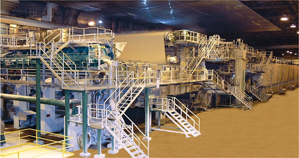 """The Domtar plant's two main production lines are the primary users of the """"green"""" steam generated from the Combined Heat and Power process it employs."""