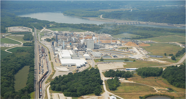 Domtar's paper pulp mill near the Ohio River in Daviess County is one of eight the Montreal-based company operates. Its website states that sustainability is comprehensively is fully embedded into its daily activities. The Hawesville plant has had a Combined Heat and Power project since 2001 than can generate 88 megawatts of power using its own byproducts.