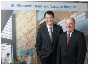 John Dubis, President and CEO of St. Elizabeth Healthcare, and Bob Zapp, President of The Bank of Kentucky.