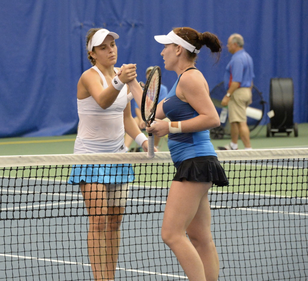 The final women's singles match was between Nicole Gibbs and Madison Brengle. Brengle won.