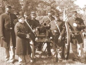 The 12th U.S. Colored Heavy Artillery unit.