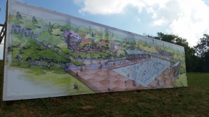 Water Wall Mural installed