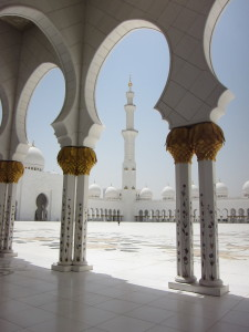 (Photo by Claude Hammond) The Sheikh Zayed Grand Mosque in Abu Dhabi was one of the cultural sites toured by the business delegation from Commerce Lexington earlier today.