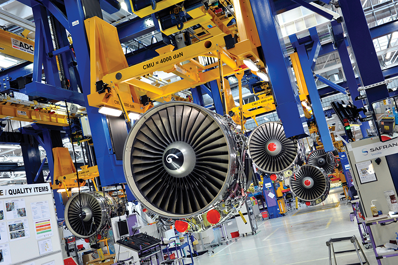 This jet engine production line for CFM, a joint venture of GE Aviation and Snecma, should be busy for at least the next 10 years and will use parts produced by Kentucky aerospace suppliers.