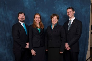 From left, team members Will Coburn, Maggie Galloway, Mary Nan Mallory and Adam Casso.