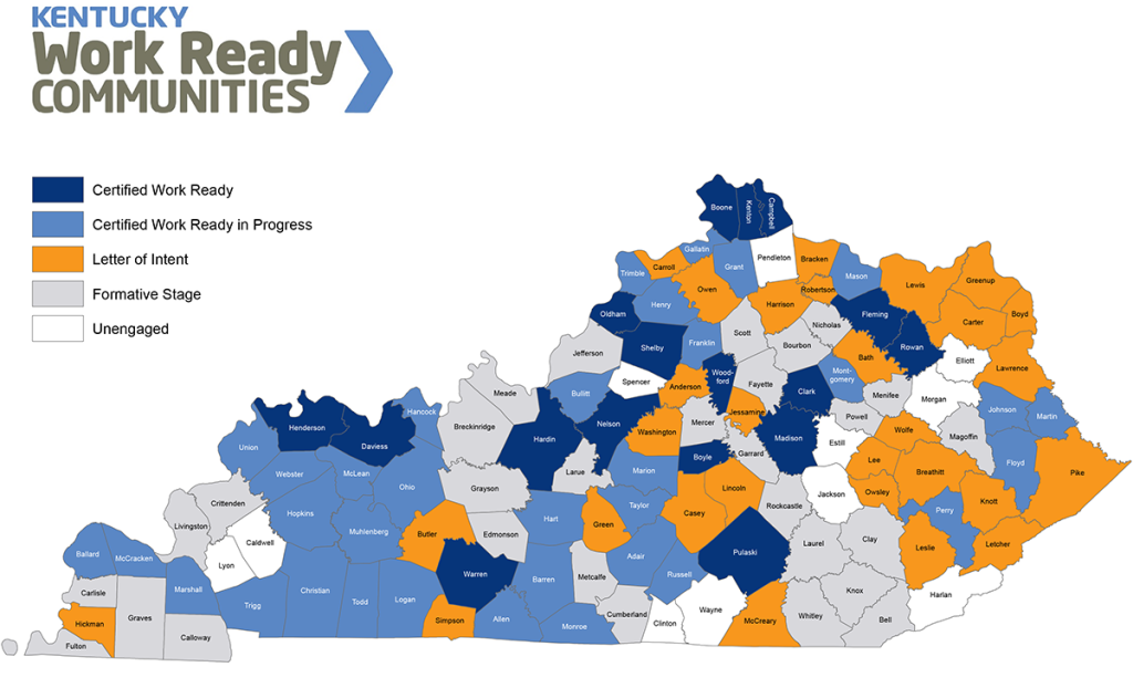 map Work Ready Certified Counties, Mar30 2015