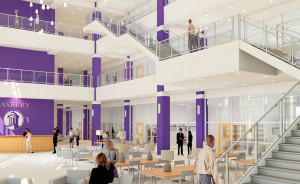Renderings of the new Collaborative Learning Center.