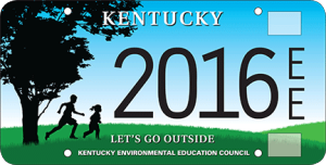 Proceeds from the specialty plate will support the work of the Kentucky Environmental Education Council (KEEC) including coordinating the Kentucky Green and Healthy Schools program and certifying professional environmental educators.