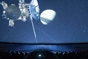 """On the second Friday of each month, the 160-seat Gheen Science Hall and Rausch Planetarium hosts a live presentation of """"Skies over Louisville."""""""