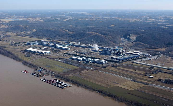 North American Stainless, located along the Ohio River in Carroll County, is the largest stainless steel production facility in North America. A subsidiary of Acerinox of Spain, the company has invested $2.6 billion and has more than 1,400 employees.