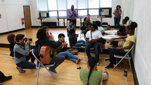 Roots & Wings participants make music at the Shawnee Arts & Cultural Center in Louisville. Roots and Wings was recently awarded a $280,000 ArtPlace America grant.