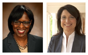 From left, Jenean Hampton (R) and Sannie Overly (D)