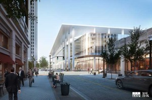 The expansion of the convention center will increase contiguous exhibit space by more than a third, from 146,000 square feet to over 200,000 square feet, and will add a 40,000-plus square foot ballroom all within the center's existing footprint.