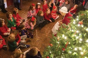 Kids are encouraged to dress in their finest holiday clothes for Children's Tea Time With Mrs. Claus, which includes cider, cookies and sandwiches.