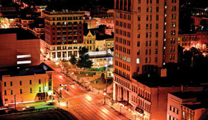 21c Museum Hotel opens on Main Street in Lexington in spring 2016 after a $43 million renovation of the historic Fayette National Bank building into an 88-room hotel with a restaurant, lounge and 8,500 s.f. of contemporary art exhibition space.