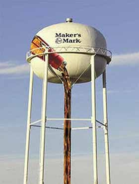 A rendering of the Maker's Mark mural that will soon grace the City of Lebanon water tower. (Photo from Lebanon Tourist & Convention Commission)