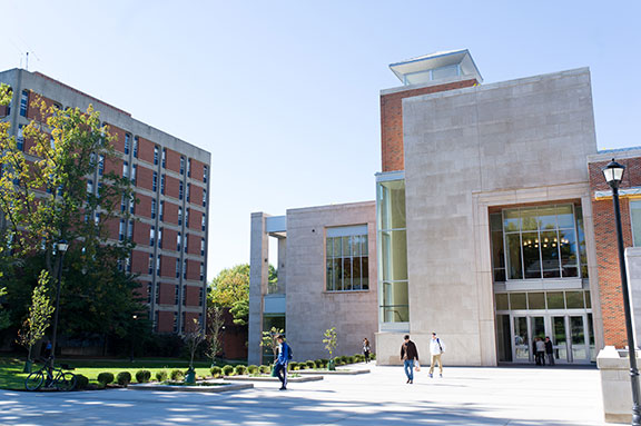 The new exterior of the Gatton College of Business and Economics