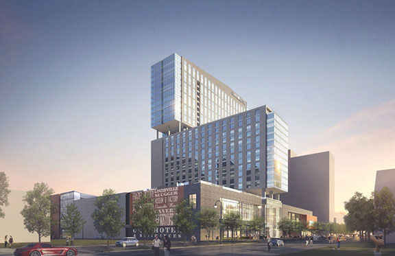Omni Louisville will be a 30-story $289 million public/private project that will include 612 rooms and 225 luxury apartments when it opens in early 2018.