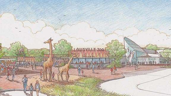 Changes at the Louisville Zoo would be visible from the entrance and be evident throughout the facility.