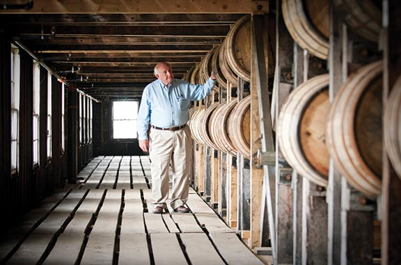 Master Distiller Jimmy Russell's experience covers all stages of bourbon making. He is known as The Buddha of Bourbon.