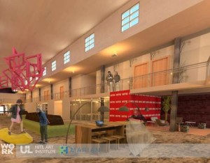 Preliminary rendering of the renovated space by WorK Architecture + Design