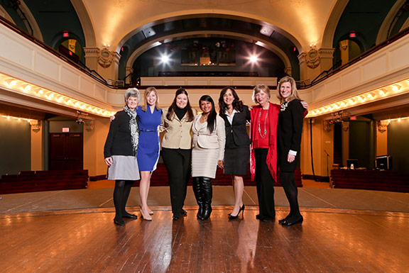 From left to right: Molly Navin, Stacy Tapke, Julie Dusing, Wonda Winkler, Serena Owen, Laurie Risch , Kim Halbauer