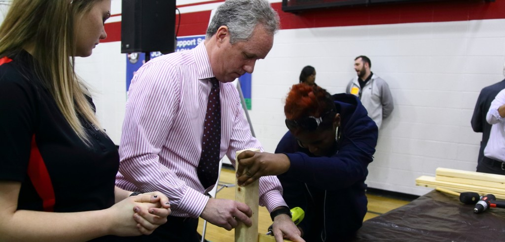 Mayor Greg Fischer participated in volunteer activities as part of last year's Give A Day.