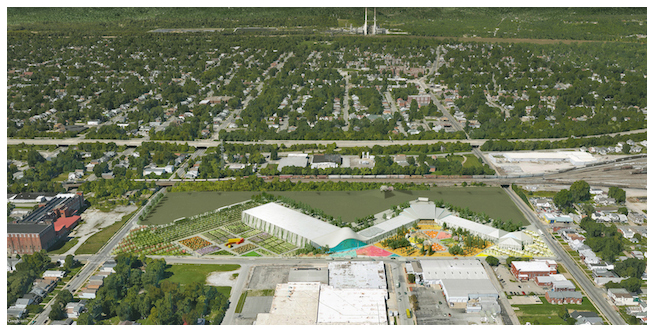 An artist's rendering of the potential site.