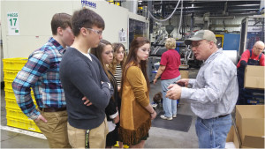 UK photo: Crittenden County students on business tour.