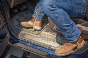Ford is adding durable, premium vinyl flooring as an option for its all-new F-Series Super Duty King Ranch and Platinum edition.  (Business Wire)