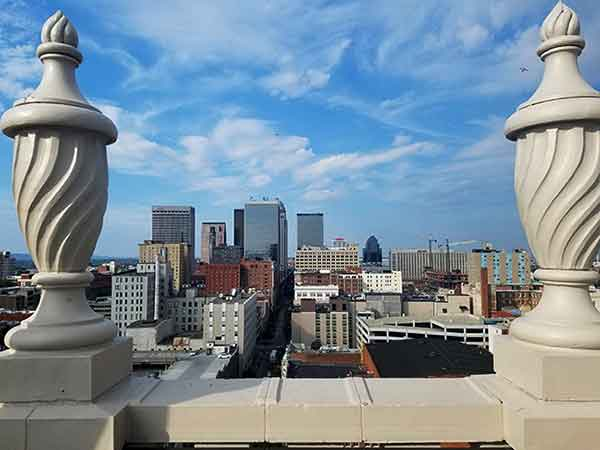This is the view from The Brown Hotel's Roof Garden. (Courtesy of The Brown Hotel)