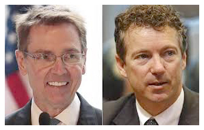 From left, Jim Gray and Rand Paul