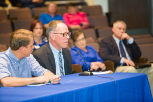 UK College of Agriculture, Food and Environment Director of Ag Equine Programs Dr. Mick Peterson spoke at Ag Leadership Day during the 2016 UK Ag Roundup week in Seay Auditorium at UK.