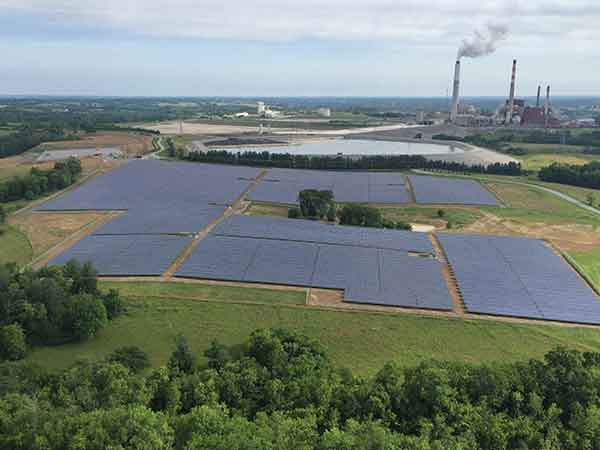 LG&E and KU in June christened a 10-megawatt solar power generation array at its E.W. Brown Generating Station in Burgin in Mercer County.