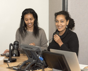 MeNore Lake, left, is a fourth-year medical student, and Rahel Bosson, M.D., is an assistant professor in the UofL School of Medicine and director of the Refugee Health Program.