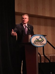Kentucky Congressman James Comer speaks to Kentucky Chamber's 2017 Legislative Preview Conference
