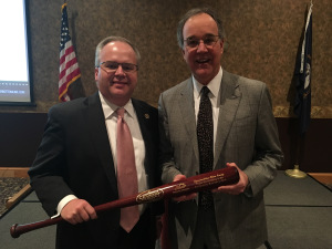 Rep. Adam Koenig, left, was presented with Kentucky Chamber MVP award by Chamber President and CEO Dave Adkisson.