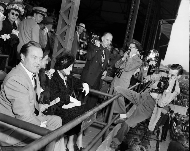 Comedian and Hollywood royalty Bob Hope attended the 1950 Kentucky Derby.