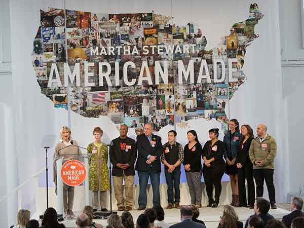 21c Museum Hotels co-founder Laura Lee Brown stands among 2016 American Made honorees and Martha Stewart at the annual summit, held Oct. 22 in New York City.