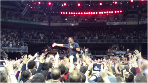 Bruce Springsteen performing at the KFC Yum! Center