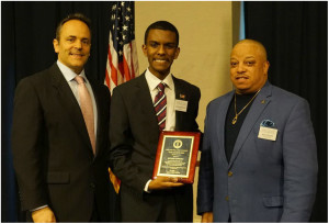 Ahmaad Edmund (center) was one of the award recipients.