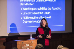 UofL alumna and University of Virginia government professor Barbara Perry spoke at the McConnell Center on the American presidency.