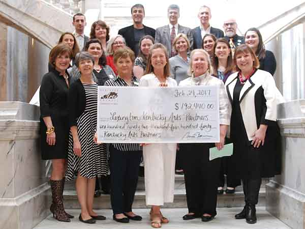 Arts leaders from Lexington celebrated the public value of the arts and thanked legislators for their continued support of the Kentucky Arts Council.