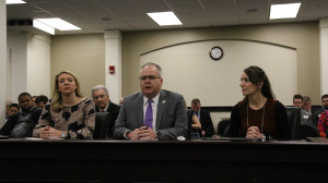 Rep. Adam Koenig testified in favor of his bill, House Bill 296, alongside Kentucky Chamber Public Affairs Director Kate Shaks and Paige Mankovich of Kentucky Employers' Mutual Insurance.