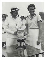 Marion Miley after winning the Women's Western Golf Amateur Champion in 1935.