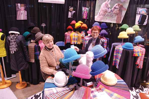 Left: Cecy Thompson (left) and Susan Grant, of Louisville-based Fleece & Flax, are among the  dozens of artists who will be exhibiting their work  at Kentucky Crafted: The Market.